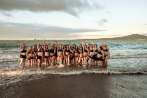 Raising Hands Pregnancy Photoshoot at Beach